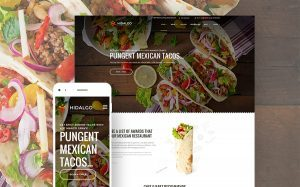 Mexican Food Restaurant WordPress Design