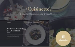 European Restaurant Website Design